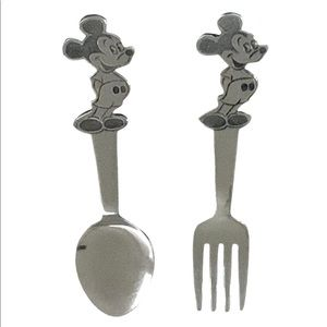 Vintage Disney Mickey Mouse Stainless Fork & Spoon